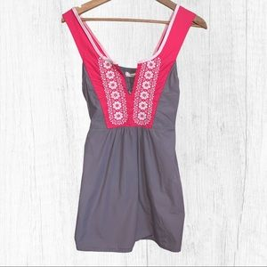 Odd Molly Gray & Pink Embroidered Sleeveless Top 3